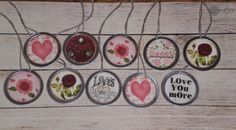 10 Assorted Primitive Vintage Valentine's February by ChooseMoose
