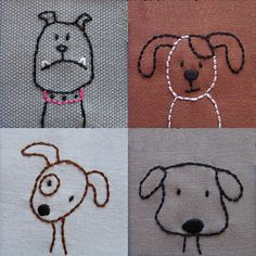The Puppies are Here! New Embroidery Pattern | Shiny Happy World