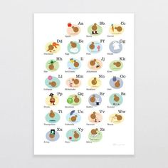 Need a fun way to learn the alphabet? This kiwiana themed Alphabet Kiwis print has been bought to life with a clever little kiwi by artist Glenn Jones. Fine Art Prints, Framed Prints, Kiwiana, Learning The Alphabet, Window Art, Epson, Paper Size, Art Prints