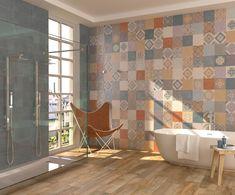 carrelage_ciment_patine_gubbio-z. Ste Cecile, Marsala, Porcelain Tile, Interiores Design, Wall Tiles, Tile Floor, Budget, Curtains, Flooring