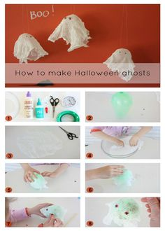 Make your own Halloween ghosts - #Halloween
