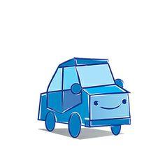 Auto azul ilustrado en vector. http://graphicriver.net/item/little-vector-cars/6548079?WT.ac=portfolio&WT.seg_1=portfolio&WT.z_author=danchopanda