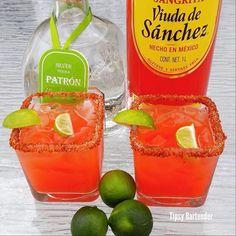 EL VAMPIRO  1oz (30ml) of Tequila Juice of a Lime 1/2 spoon Worcestershire Sauce Sangrita Viuda de Sanchéz Pinch of Salt Tajin chili powder