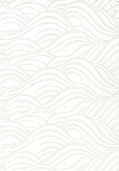 WAVES, Pearl, AT9878, Collection Nara from Anna French Coastal Wallpaper, Waves Wallpaper, View Wallpaper, White Wallpaper, Anna French Wallpaper, Chinoiserie Chic, Japanese Architecture, Painted Paper, Japanese Design