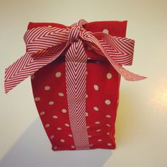 Trim Tied Gift Bag Tutorial