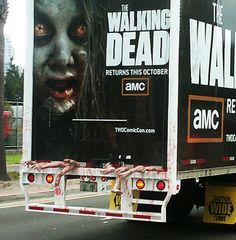Great ad for The Walking Dead! Not sure how young children would cope with it though.