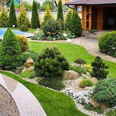 Precious Tips for Outdoor Gardens - Modern Home Landscaping, Front Yard Landscaping, Backyard Patio, Garden Landscape Design, Garden Cottage, Garden Inspiration, Beautiful Gardens, Outdoor Gardens, Japanese Gardens