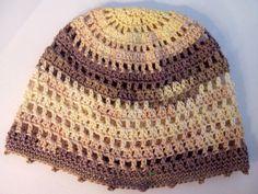 Slouchy / summer / beanie / crochet hat / cotton / beige / brown / ecru / festival / resort / beach hat / travel / resort / street / casual / boho / crochet cap / women / girls / summer / cotton / sun hat / etsy