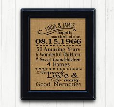 50th Anniversry Gift,50th Anniversary, Anniversary Gift for Parents,50 Year…