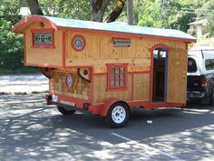 Joseph's Gypsy Wagon – Tiny House Swoon Tiny House Swoon, Tiny House Living, Tiny House Plans, Tiny House On Wheels, Rv Living, Gypsy Trailer, Gypsy Caravan, Teardrop Trailer, Diy Camper Trailer