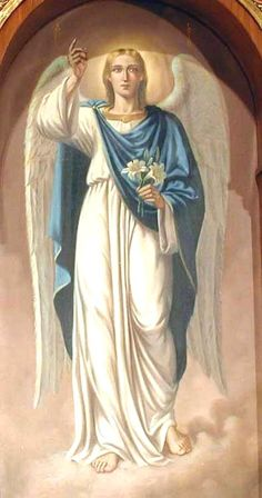 St. Gabriel was the Archangel that announced the coming of Jesus Christ our Lord and Savior.