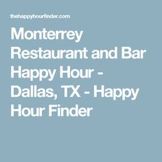 Restaurant and Bar Happy Hour  Dallas, TX  Happy Hour Finder