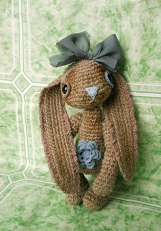 Spring Bunny...you gotta love the flower belly button!.