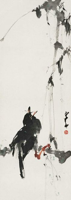Chinese painting bird Zhao Shao Ang