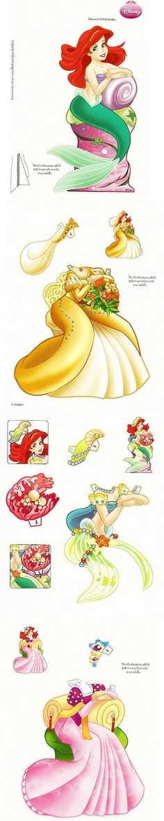 Paper Doll - Disney Ariel                                                                                                                                                                                 Plus