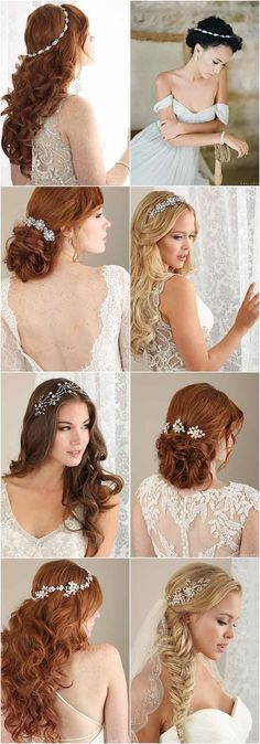 Classy and elegant Wedding Hairstyles; Featured Hairstyles and Accessories: Bel Aire Bridal