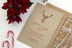 #Tutoriel carte pour invitation ou carte de vœux avec découpe de tête de cerf.