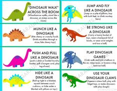 How to Stomp Out Dinosaur Sized Feelings With Proprioception Dinosaur themed sensory (proprioception) heavy work activities for organizing and calming sensory input. This is perfect for a child who seeks out sensory stimulation. Movement Activities, Gross Motor Activities, Work Activities, Toddler Activities, Autism Sensory Activities, Speech Activities, Vocabulary Activities, Therapy Activities, Physical Activities