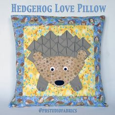 Inspired by Fabric: Hedgehog Love Pillow Tutorial