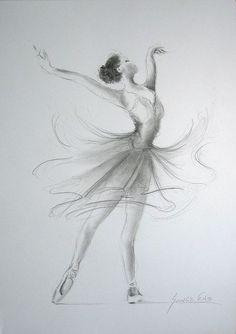 ORIGINAL Bleistiftzeichnung 12 x 8 auf weißem Papier von EwaGawlik