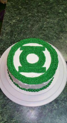 Astounding 9 Best Green Lantern Cake Images Green Lantern Cake Green Funny Birthday Cards Online Amentibdeldamsfinfo