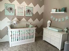 About it more baby nursery grey, elephant nursery boy, mint green nursery, Elephant Nursery Boy, Girl Nursery, Nursery Grey, Grey Elephant, Chevron Nursery Boy, Baby Bedroom Ideas Neutral, Zoo Nursery, Pastel Nursery, Elephant Elephant