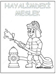 Meslekler Education Clipart, Animal Coloring Pages, Arithmetic, Art Tutorials, Fun Activities, Fun Crafts, Art For Kids, Preschool, Clip Art