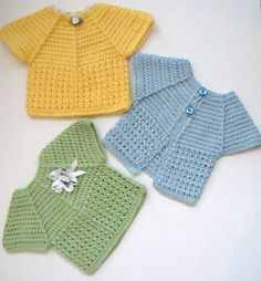 Crochet Baby Top and Cardigan Pattern PDF by UniqueEarthling, £2.10