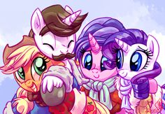 "When Rarity was finally released, Applejack tipped her hat to each parent in turn. ""Sir. Ma'am. It's great to see y'all,"" she said, keeping a safe pony length's distance. It was no use, and she was..."