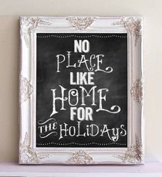 Framed CHALKBOARD Christmas Sign Holiday Menu Winter Wedding Chalk Board Framed Chalkboard Shabby Chic White Kitchen Chalkboard- MORE COLORS
