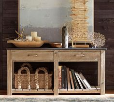 Parker Reclaimed Wood Console Table | Pottery Barn