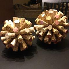 Wine cork objects.