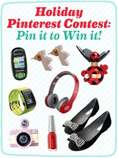 """Enter our """"Pin it to Win it"""" Contest! Here's how: http://www.seventeen.com/fashion/blog/holiday-pinterest-contest"""