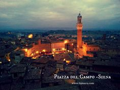 """The world famous Piazza del Campo in Siena, seen from the """"facciatone"""""""