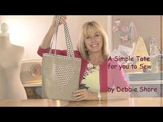 Sewing a  simple tote bag by Debbie Shore