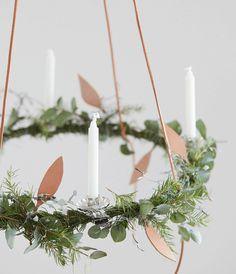 Decorate for a Natural Swedish Christmas – Chalk & Moss - Adventskranz Selber Machen Swedish Christmas Decorations, Danish Christmas, Scandinavian Christmas Decorations, Christmas Lanterns, Xmas Decorations, Christmas Wreaths, Christmas Crafts, Advent Wreaths, Winter Wreaths