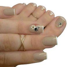 Nagel Stamping, Cute Spring Nails, Nagellack Trends, Manicure E Pedicure, Mani Pedi, Pretty Nail Art, Toe Nail Designs, Pedicure Nail Designs, Pedicure Colors