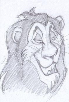 disney sketch - scar, the lion king 1994