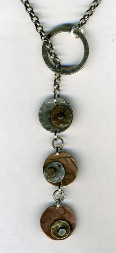 lariats by alicealice Copper Jewelry, Clay Jewelry, Pendant Jewelry, Jewelry Art, Beaded Jewelry, Jewelry Accessories, Handmade Jewelry, Jewelry Crafts, Jewelry Design