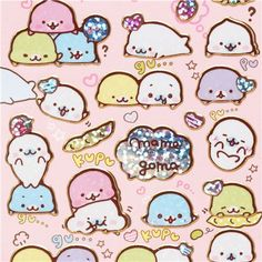 cute Mamegoma Baby seals glitter stickers Japan 1