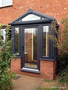 Image result for porch Porch Uk, Front Door Porch, Porch Doors, Front Porch Design, Glass Front Door, House Porch, Porch Designs Uk, Upvc Porches, Enclosed Porches