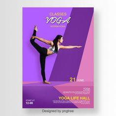 yoga,poster,flyer,exercise,Yoga poster design, yoga flyer, flyer design, poster design, vector design, body building, fitness flyer, purple flyer
