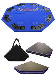 Card Tables And Tabletops 166572: Blue 4 Fold Octagon Poker Blackjack Table  Top [