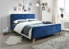 "Pat tapitat cu stofa ""Malmo Velvet"" Blue, 200 x 160 cm Bedroom Bed, Bedroom Decor, Design Bedroom, Blue Velvet, Furniture Decor, Comforters, Interior Design, Inspiration, Home Decor"