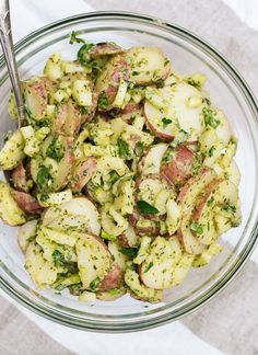 This simple, herbed red potato salad recipe