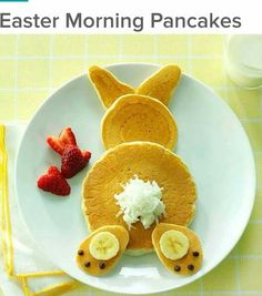 Cute bunny pancakes