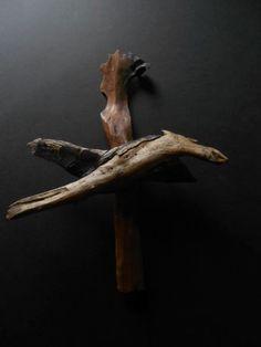 Hand Carved Driftwood Free Bird Southern Folk Art by FalconStudios