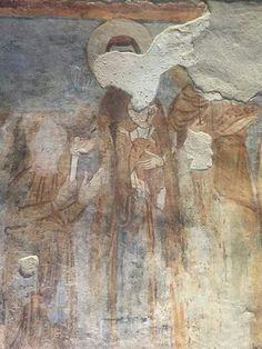 Affreschi della secondo e terzo piano della torre del monastero di Torba (VA). VIII Sec.