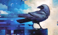 Raven paintings | ancient raven 22 x 36 oil on canvas giacobbe fritz fine art
