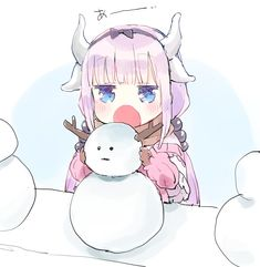Miss Kobayashi's Dragon Maid, Dragon Girl, Lolis Anime, Anime Chibi, Kawaii Anime Girl, Anime Art Girl, Anime Girls, Kanna Kamui, Kobayashi San Chi No Maid Dragon
